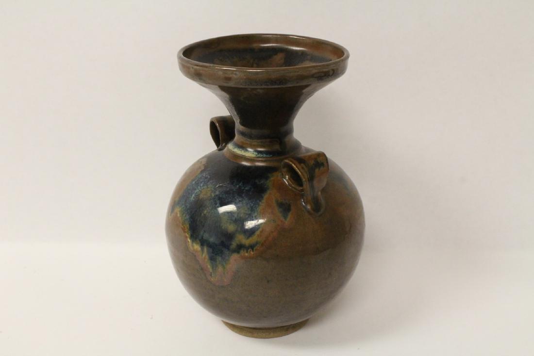 Chinese brown glazed jar - 2