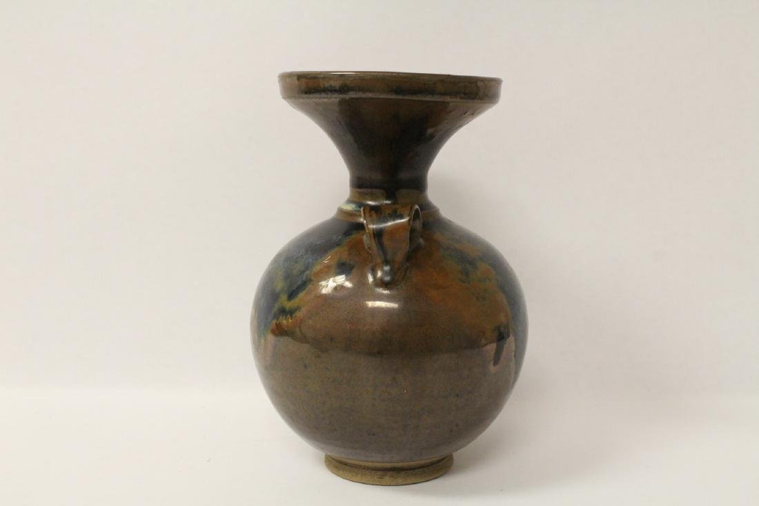 Chinese brown glazed jar - 3