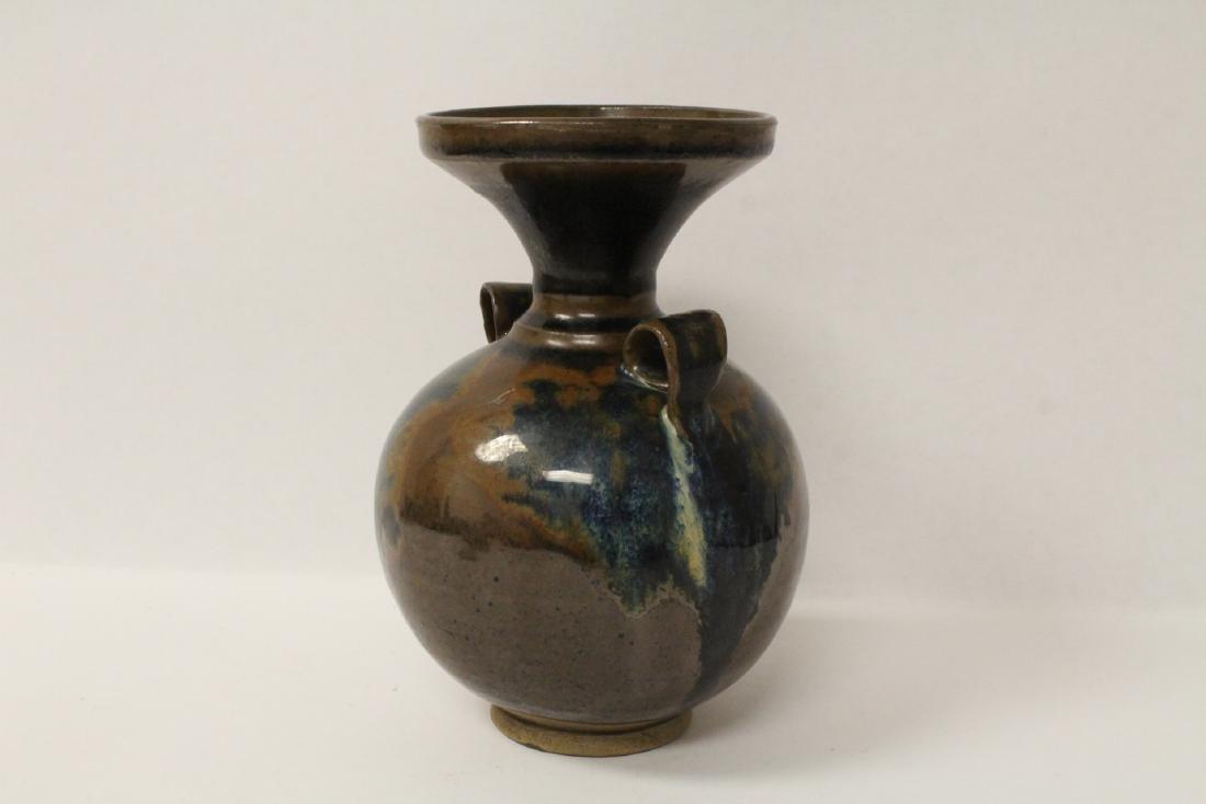 Chinese brown glazed jar - 5