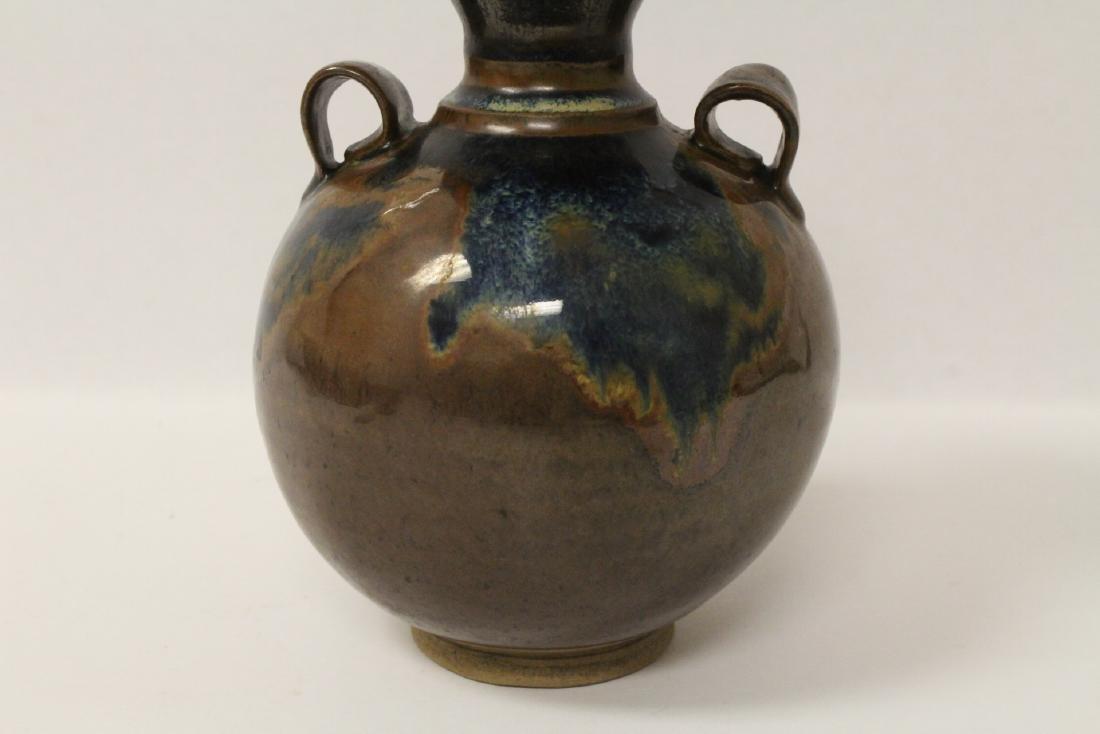 Chinese brown glazed jar - 7