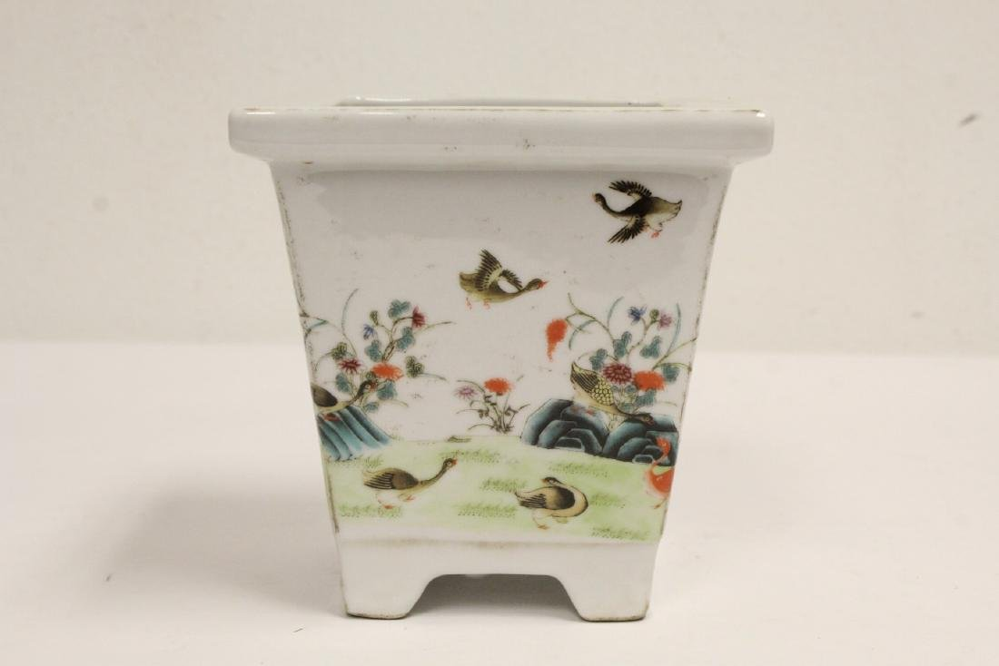 Famille rose porcelain planter