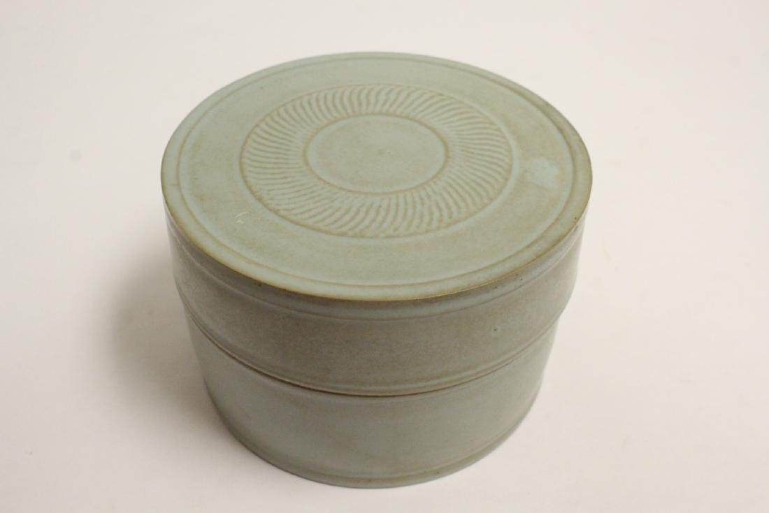 Song style celadon box - 10