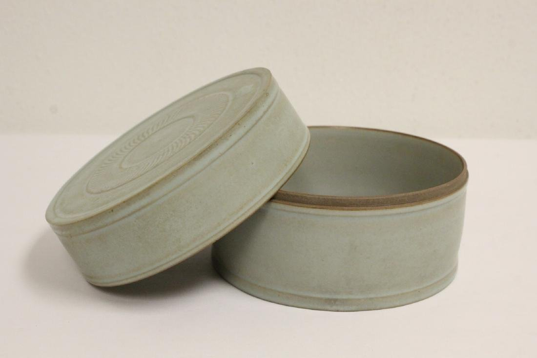 Song style celadon box - 2