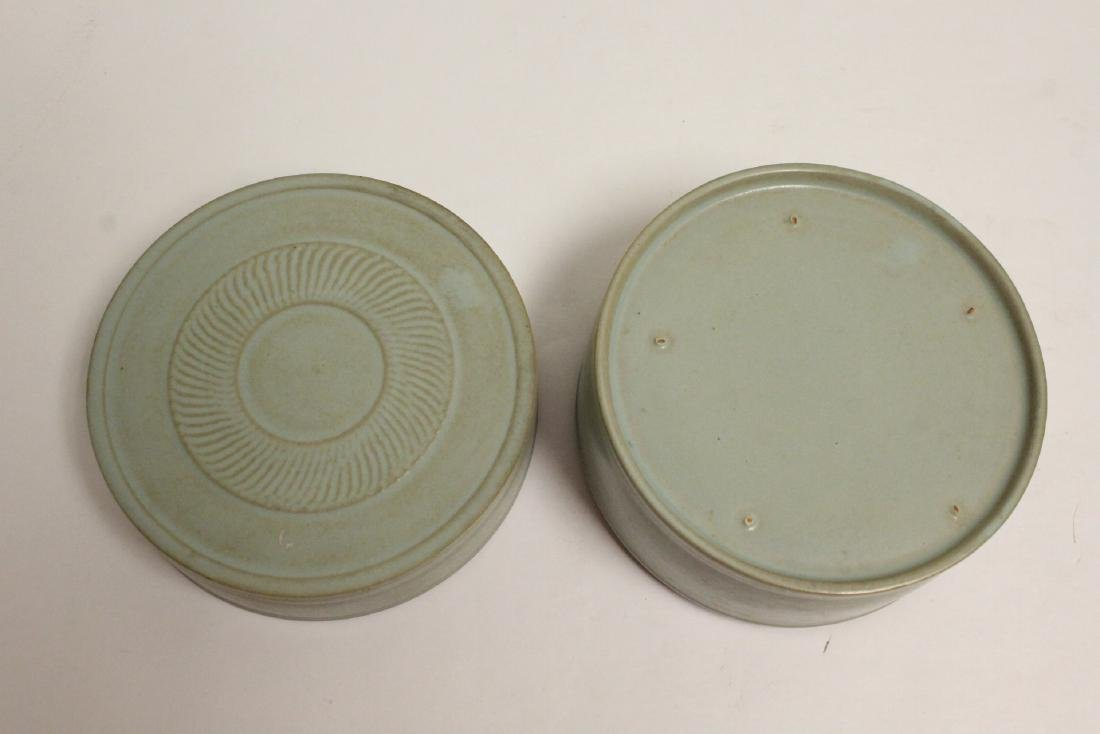 Song style celadon box - 9