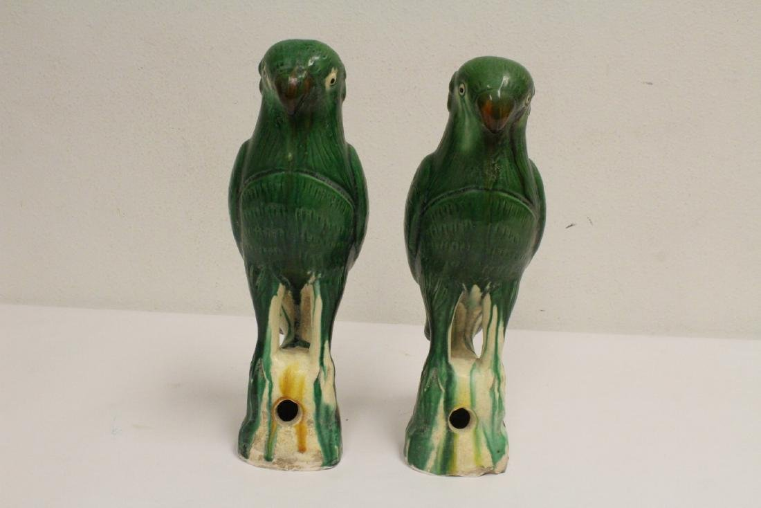 2 sancai style parrots