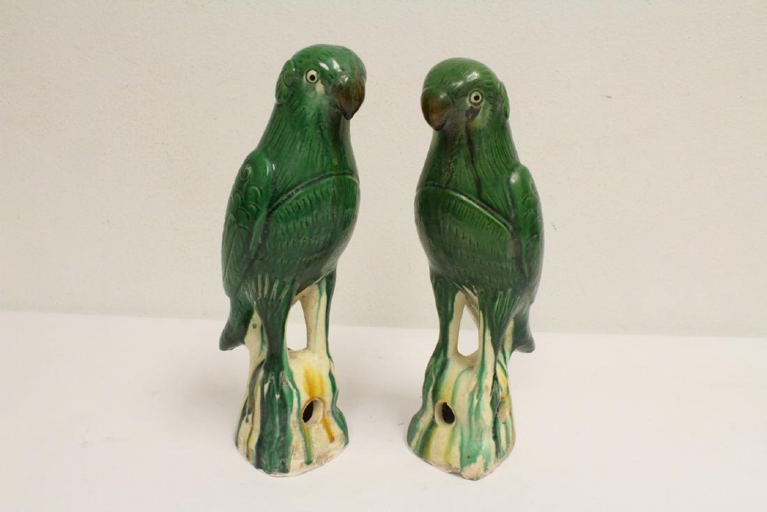 2 sancai style parrots - 3