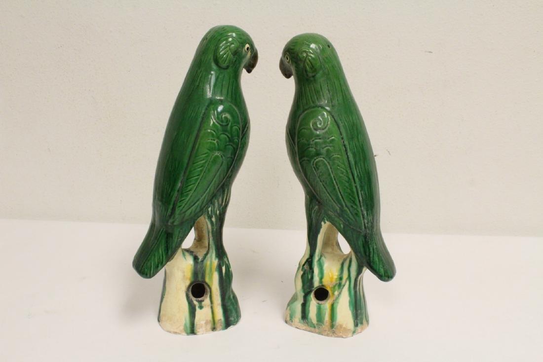 2 sancai style parrots - 4