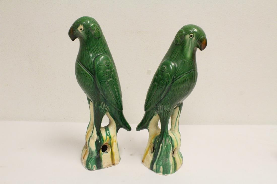 2 sancai style parrots - 7