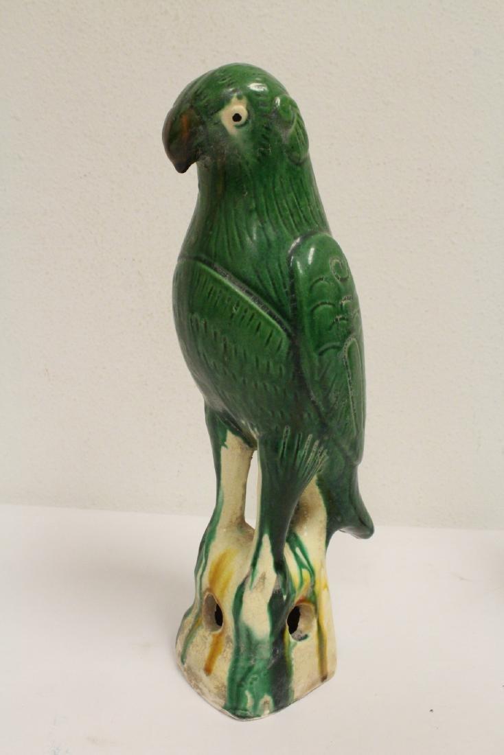 2 sancai style parrots - 9