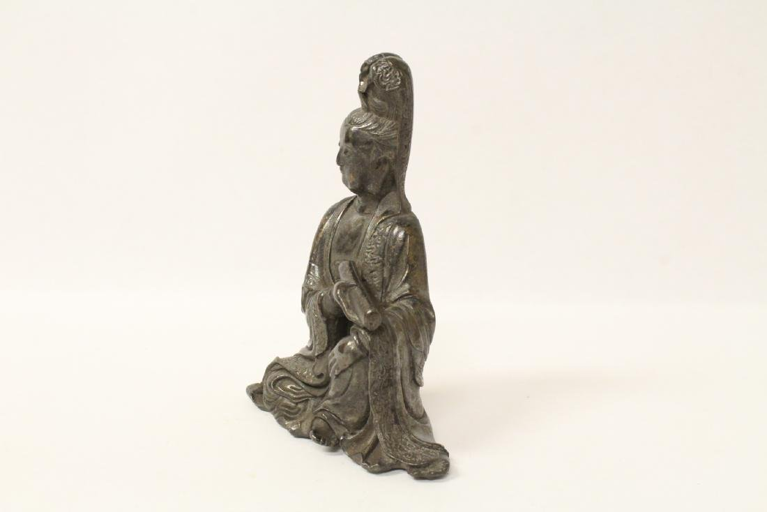 Chinese small bronze sculpture of Guanyin - 5