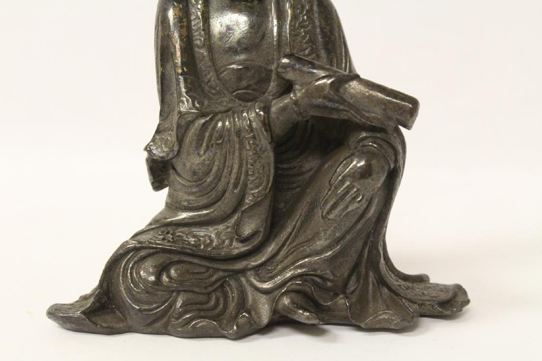Chinese small bronze sculpture of Guanyin - 9
