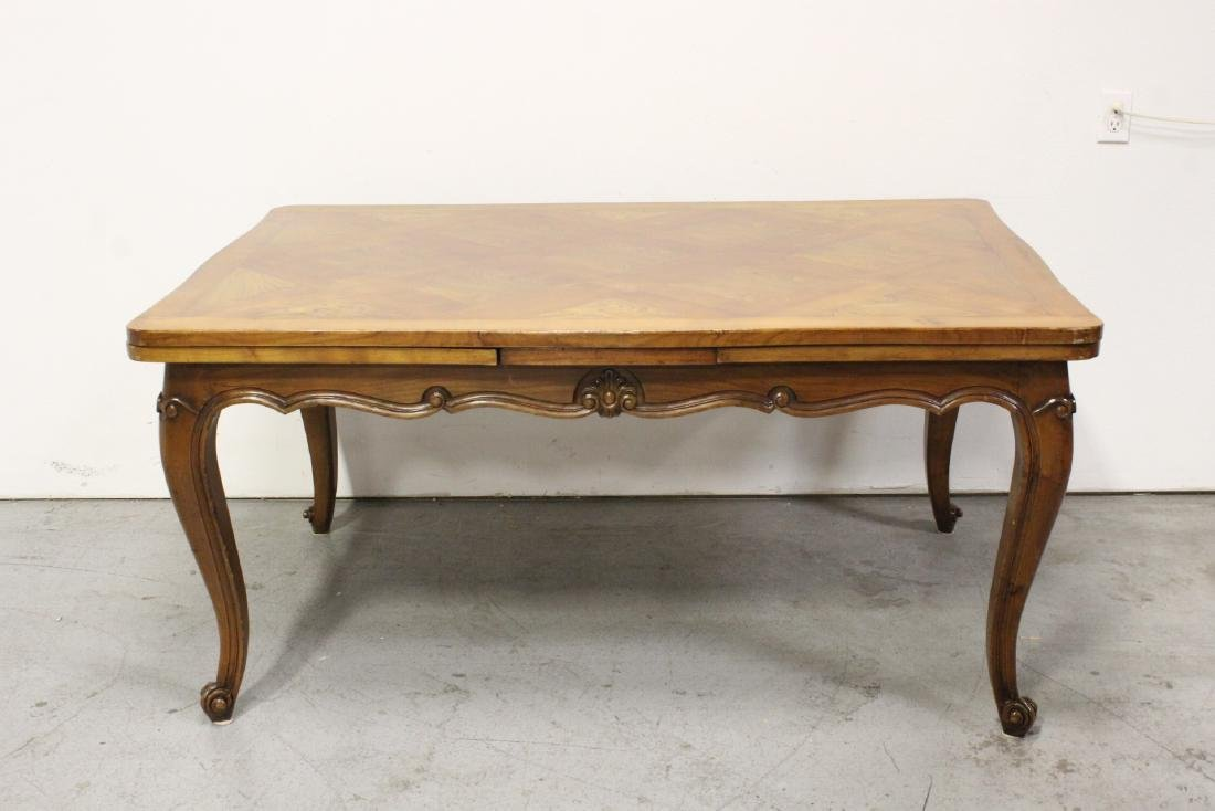 antique French provincial walnut refractory table