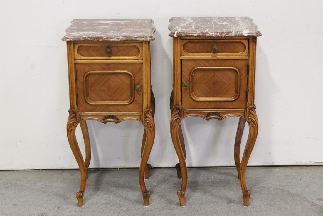 Pr 19th c. French provincial marble top tables
