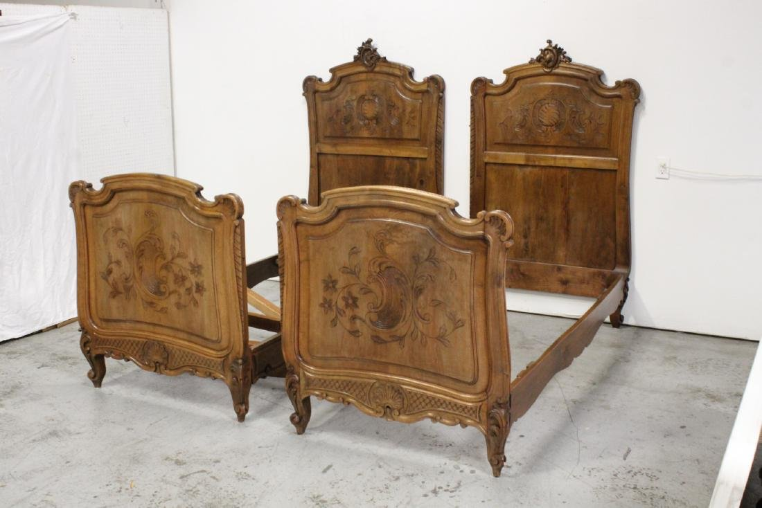 19th century French provincial king size bed