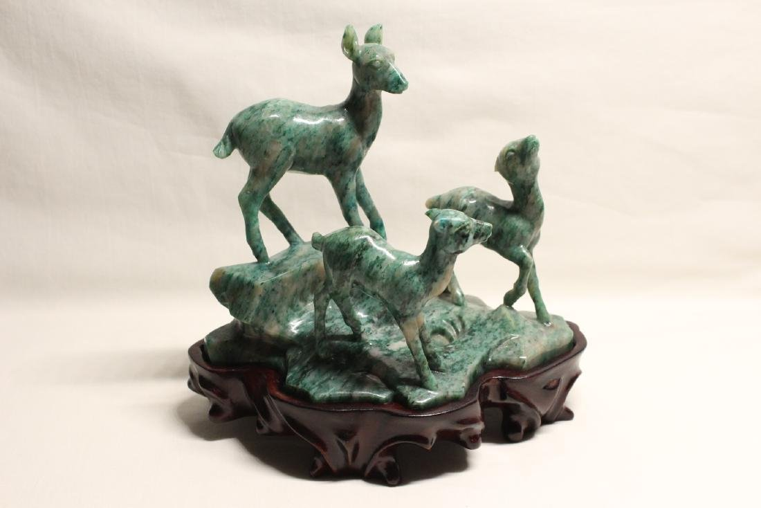 Chinese vintage jadeite like stone carving