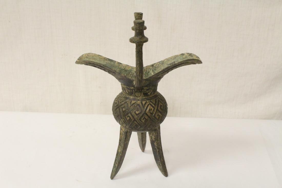 Chinese vintage archaic style bronze jue