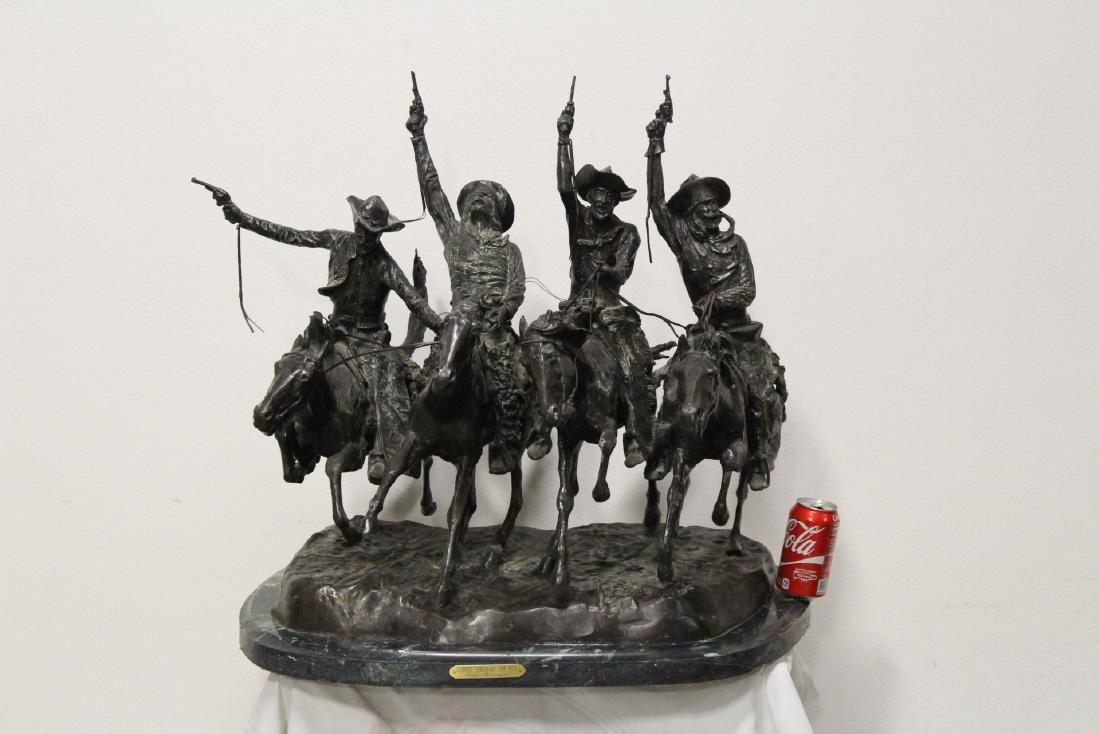 A massive bronze sculpture