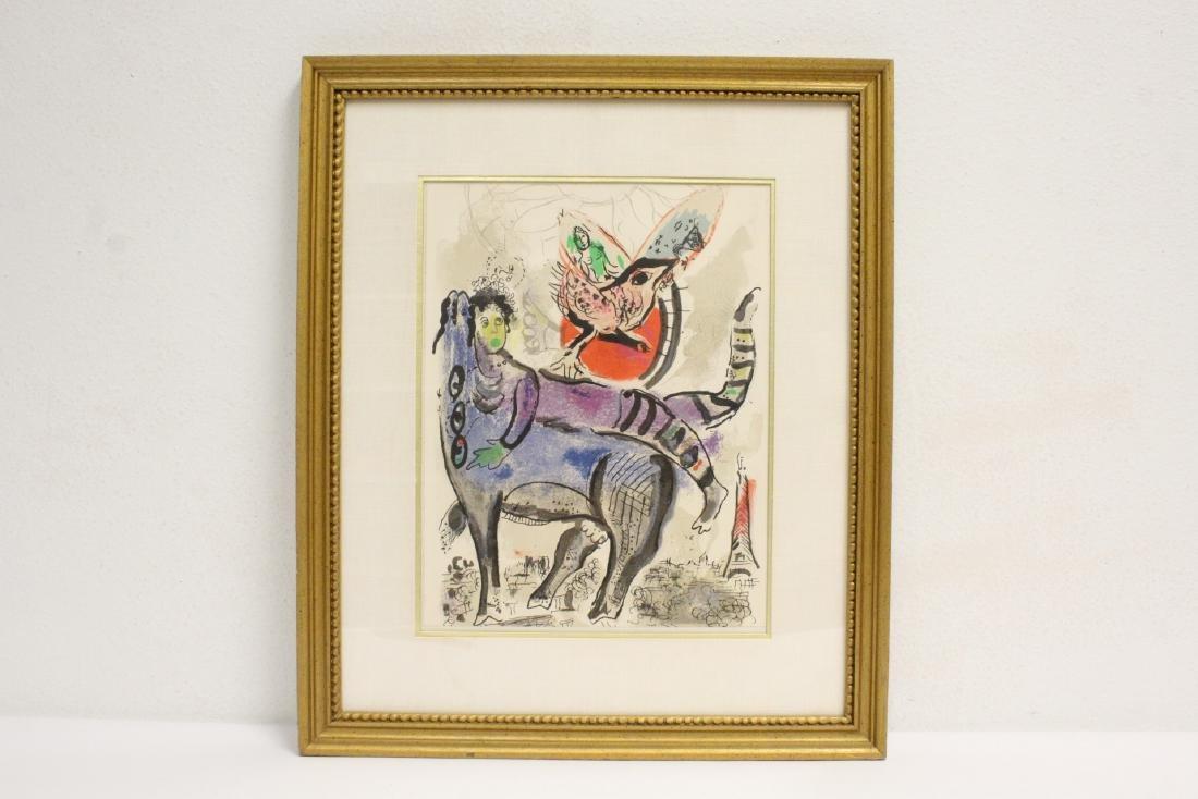 "Lithography ""La Vache Bleu"" by Marc Chagall"