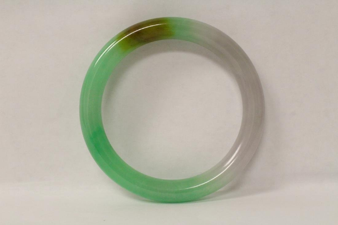 Lavender jadeite bangle bracelet