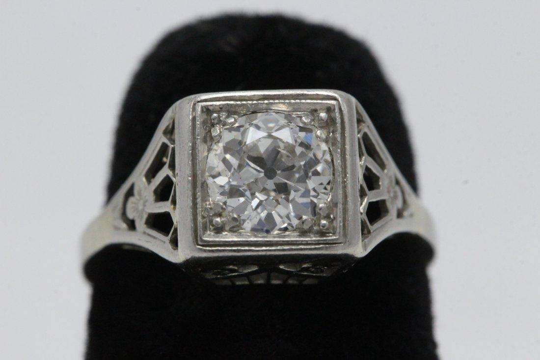 An art deco platinum lady's diamond ring
