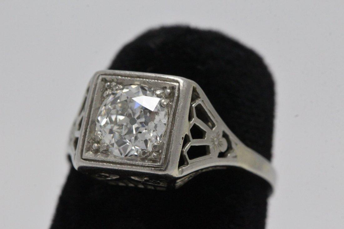 An art deco platinum lady's diamond ring - 2