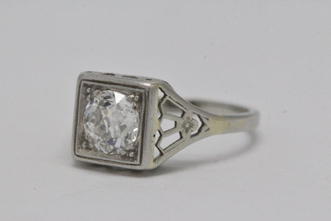 An art deco platinum lady's diamond ring - 7