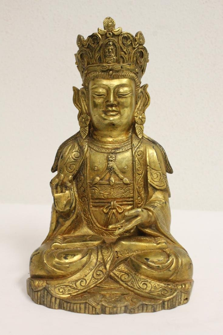 Chinese gilt bronze sculpture