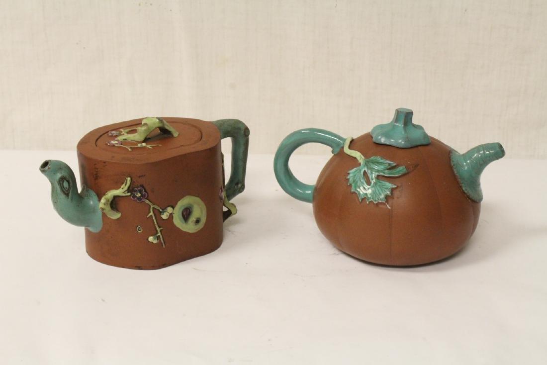 2 Chinese Yixing teapots