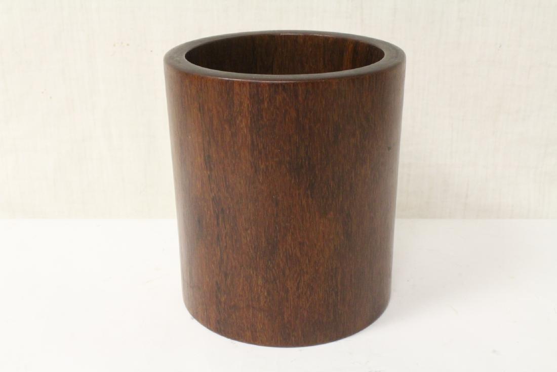 Chinese rosewood brush holder
