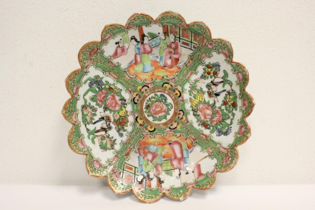 A rare Chinese rose canton porcelain plate