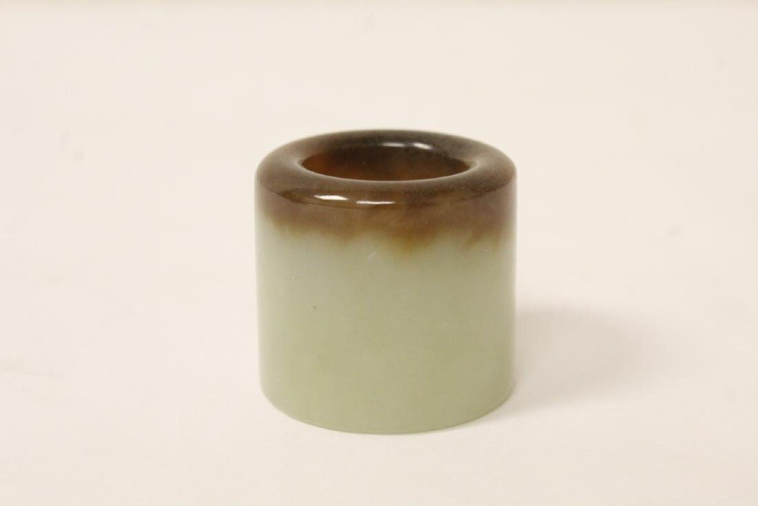 Chinese antique hetian jade archer's ring