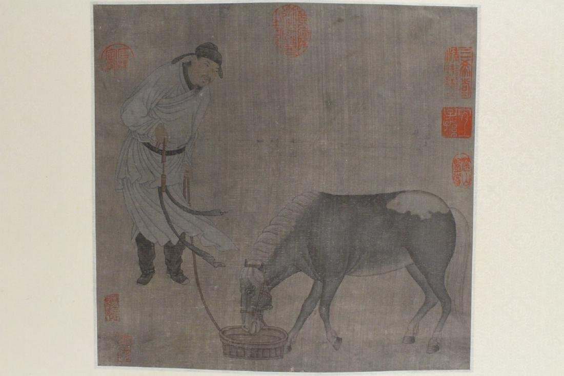 Chinese watercolor on silk panel