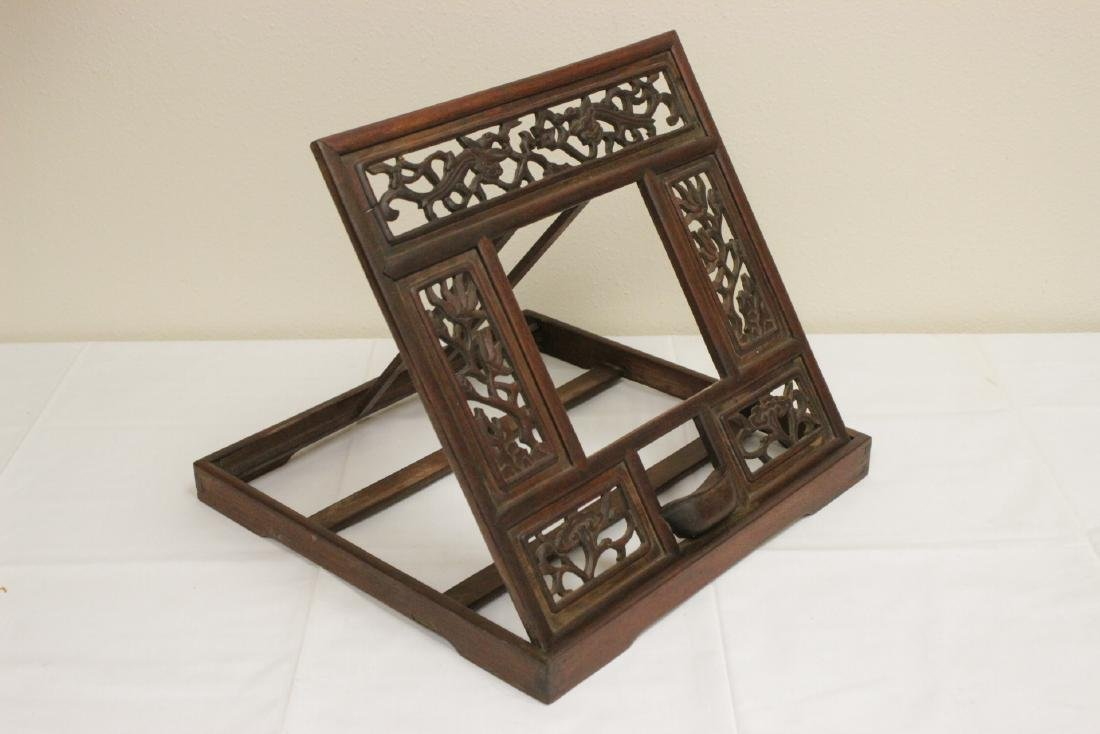 Chinese antique possible huanghuali mirror rack