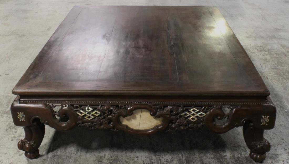 massive Chinese vintage rosewood Lohan bed