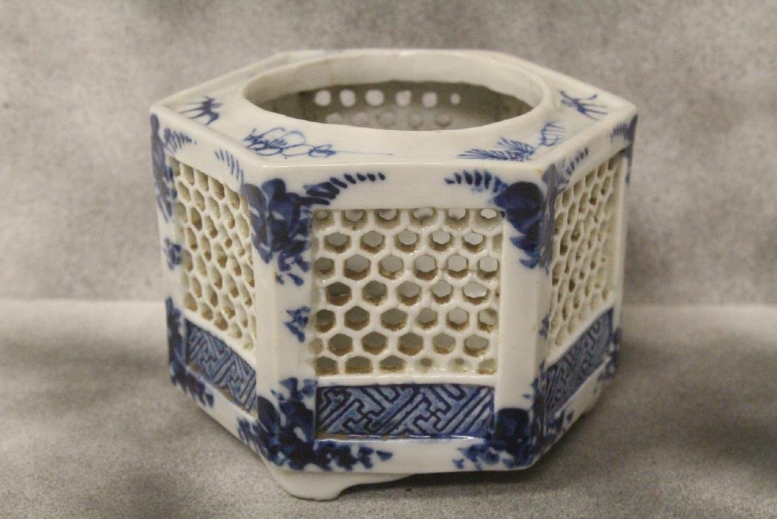Chinese antique blue and white censer