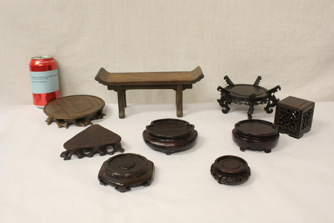 9 fine rosewood stands