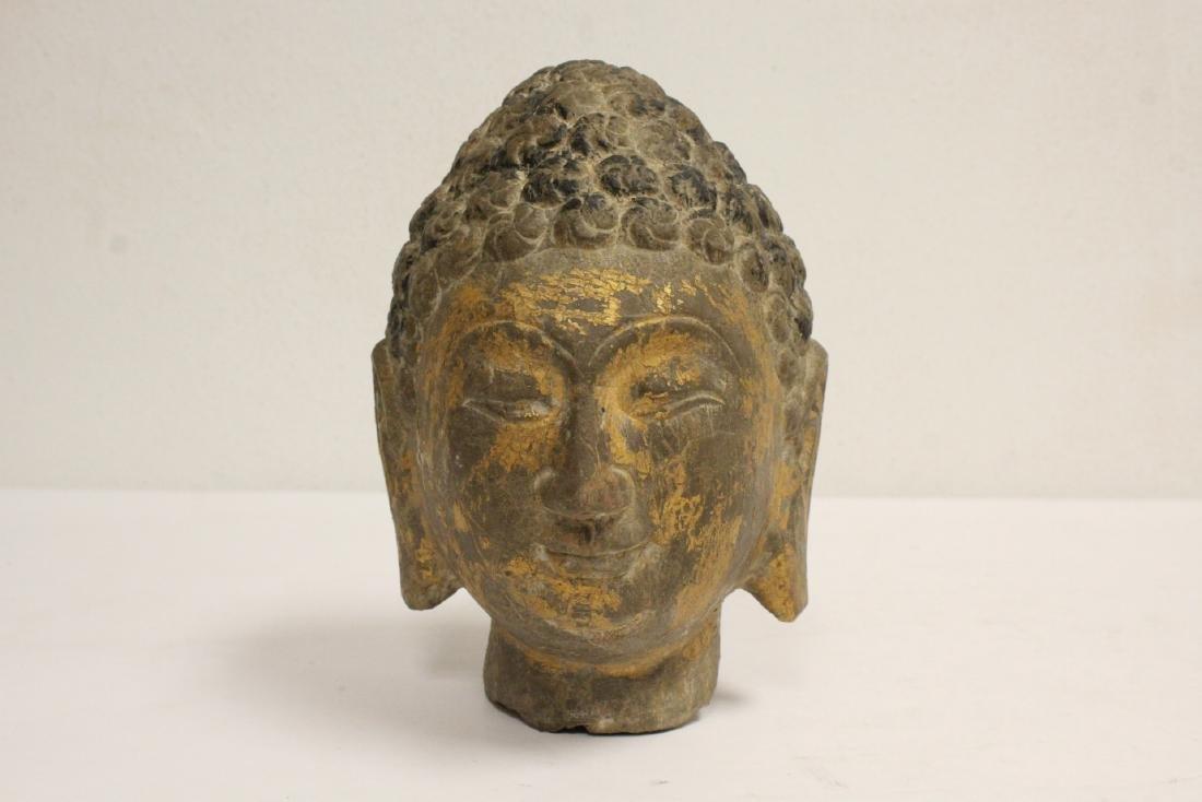 Chinese stone carved Buddha head
