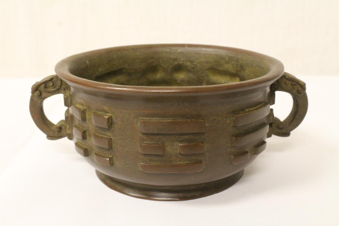 Chinese bronze open censer