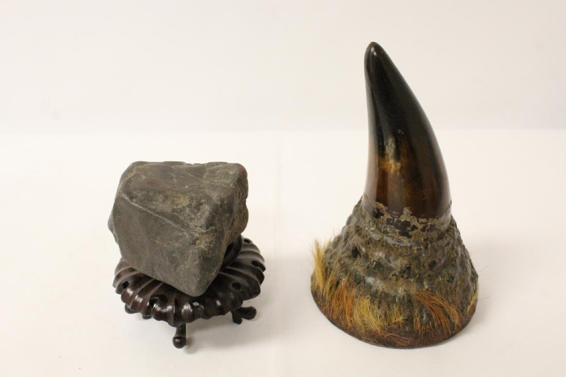 A horn and a meteor