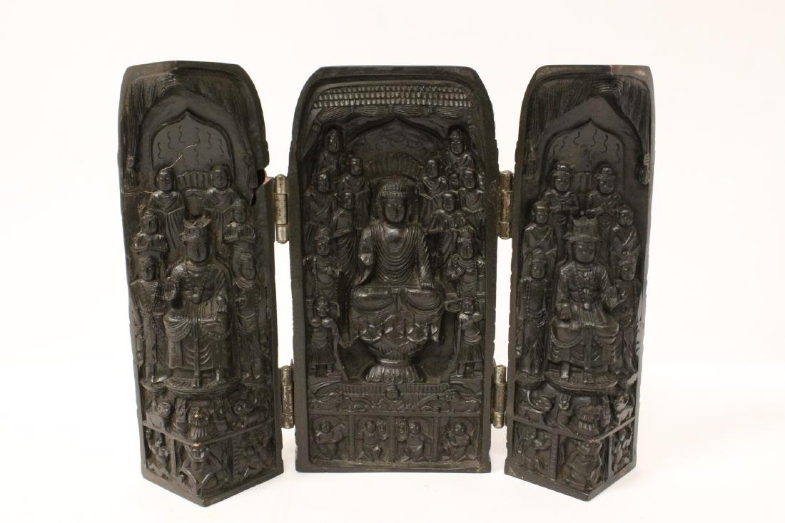 Wood carved shrine
