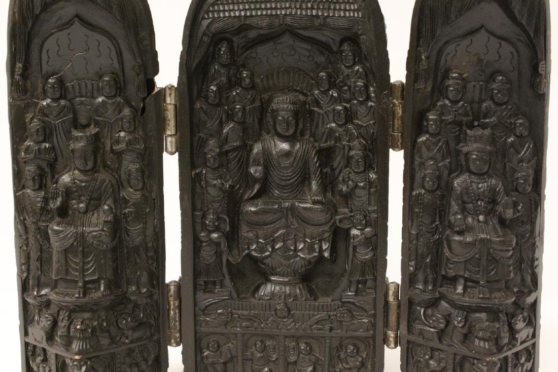 Wood carved shrine - 5