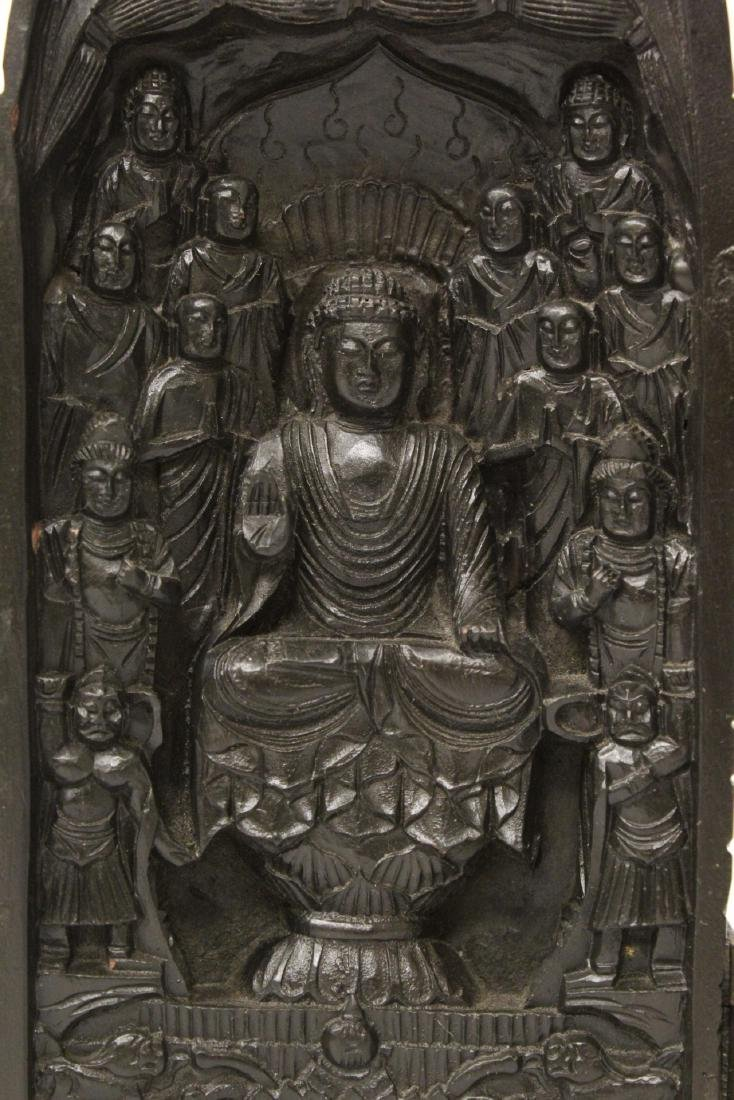 Wood carved shrine - 6