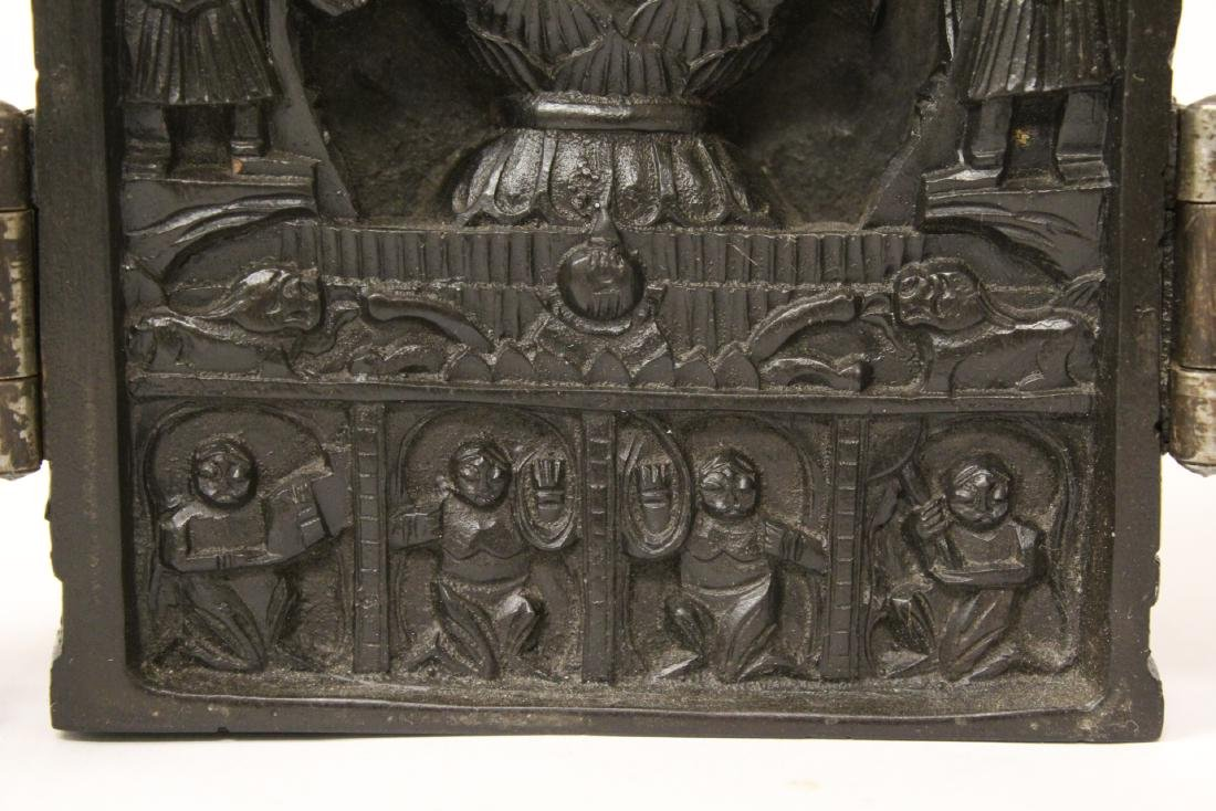 Wood carved shrine - 9