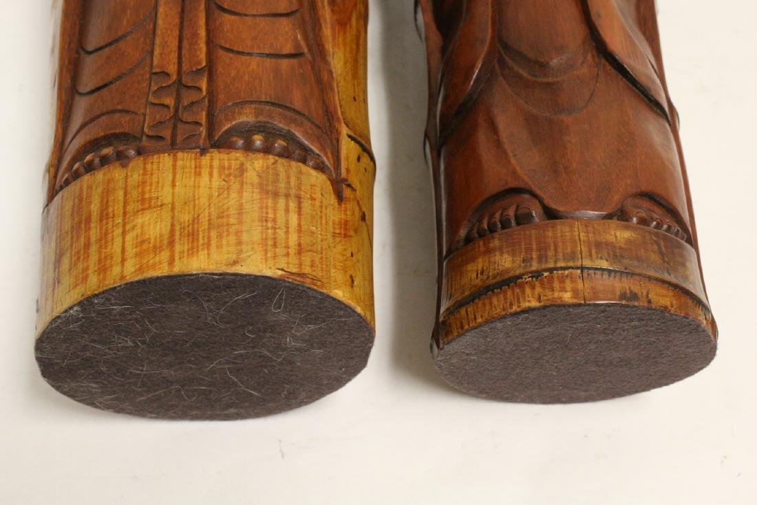 2 unusual Chinese bamboo carved deities - 10