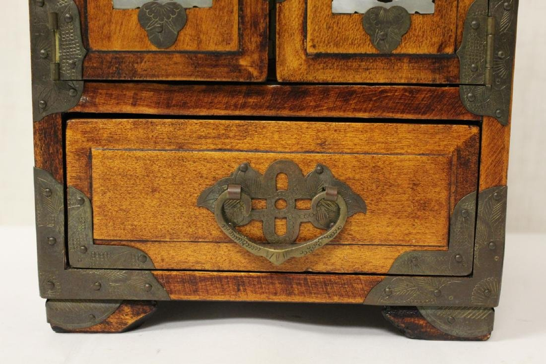2 Chinese rosewood jewelry boxes - 11
