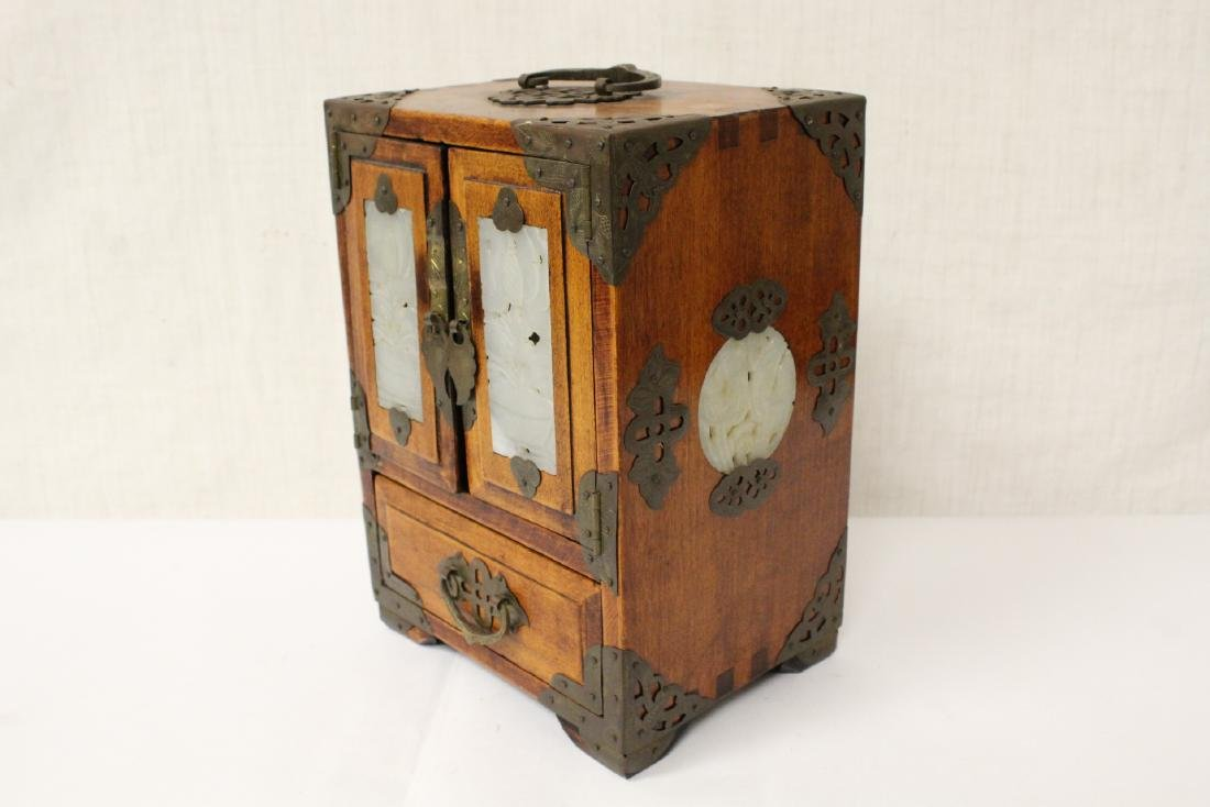 2 Chinese rosewood jewelry boxes - 13