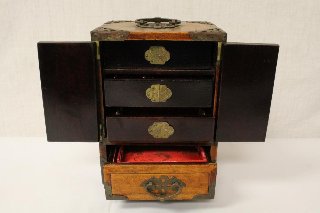 2 Chinese rosewood jewelry boxes - 8