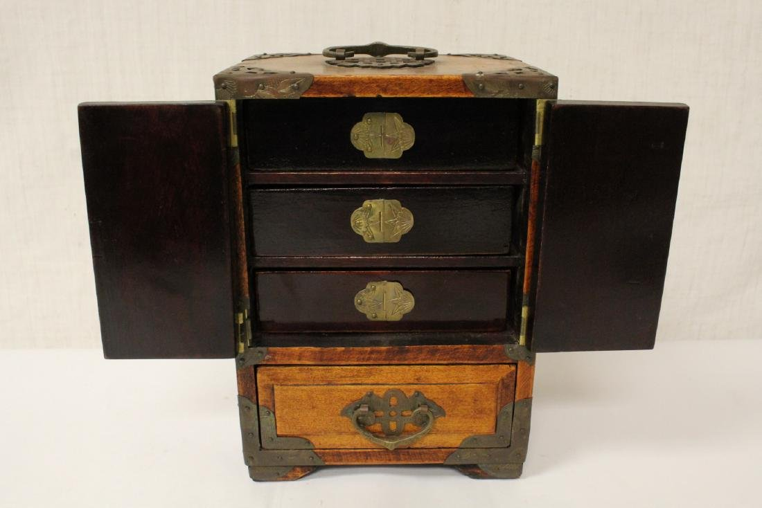 2 Chinese rosewood jewelry boxes - 9