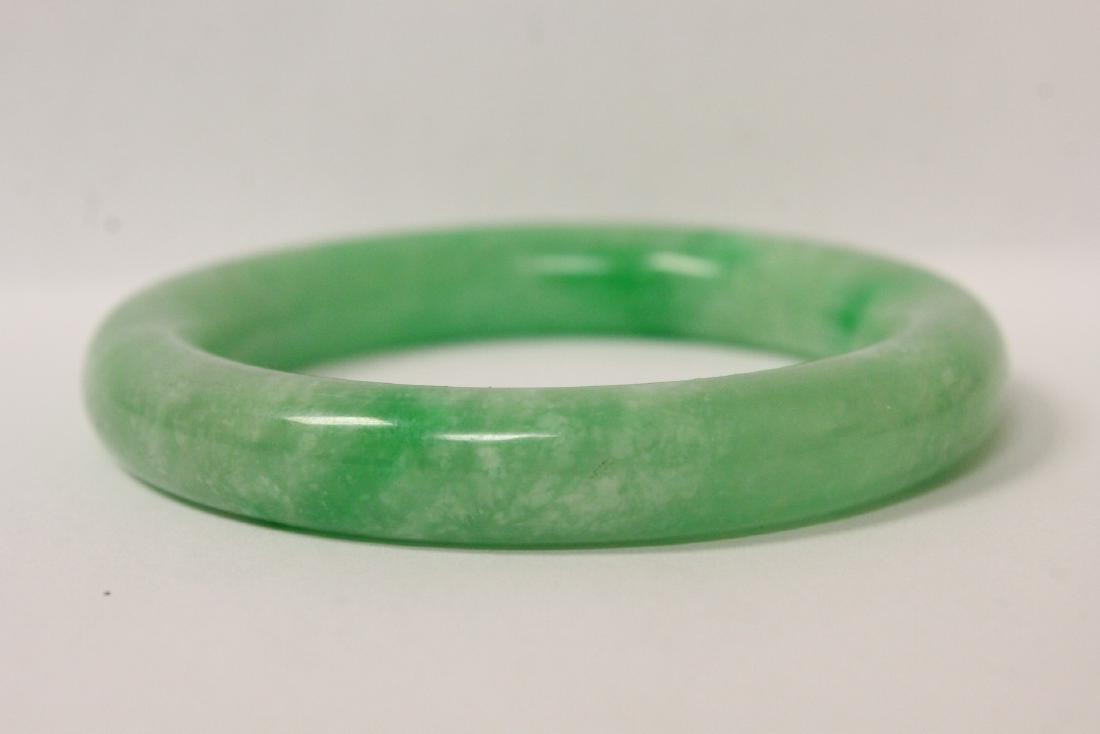 2 jadeite like bangle bracelets - 11