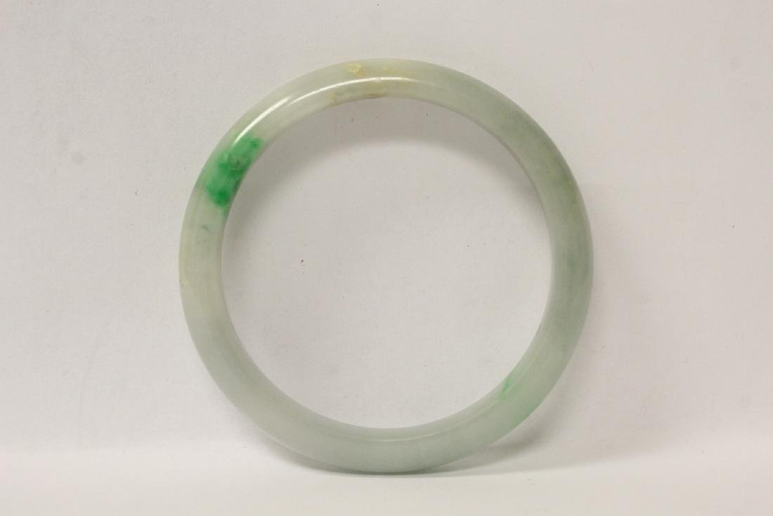 2 jadeite like bangle bracelets - 2